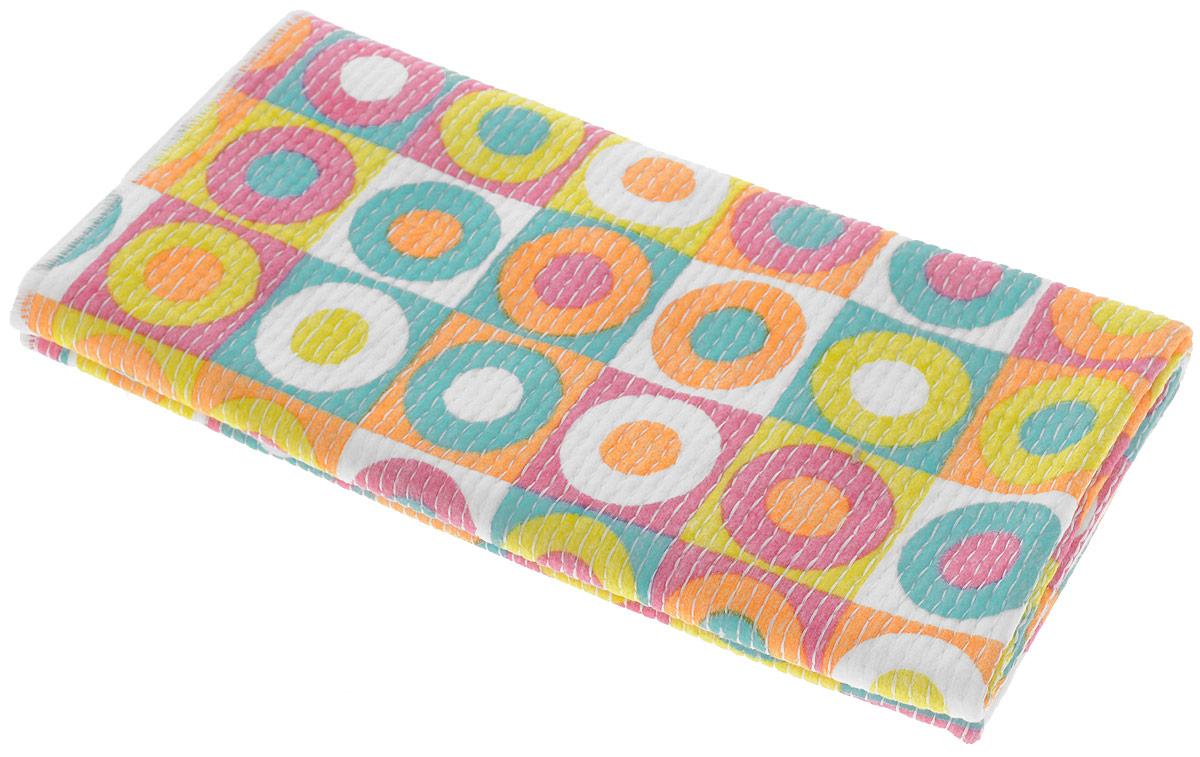 Тряпка универсальная VANI Дизайнерские принты, 50 х 70 смV 0131_разноцветные круги в квадратахУниверсальная тряпка VANI Дизайнерские принты предназначена для уборки.Тряпку можно эффективно использовать как во влажном, так и в сухом виде. Ткань измикрофибры имеет эффект губки и впитывает гораздо больше воды, чем обычная ткань. Материал микрофибра, имея внутренний статический заряд, притягивает и удерживаетмикроскопическую пыль. Тряпка износостойкая, не оставляет разводов.Возможна машинная стирка при 40°С. Размер 50 х 70 см.