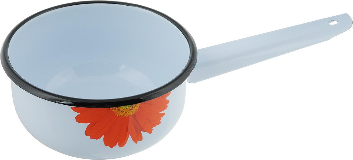 Ковш, изготовленный из стали, покрытой эмалью - отличный вариант для любой хозяйки. Ручка оснащена отверстием, благодаря которому вы сможете повесить ковш там, где вам будет удобнее. Диаметр ковша (по верхнему краю): 17 см. Высота стенки ковша: 8 см. Длина ручки: 15 см.