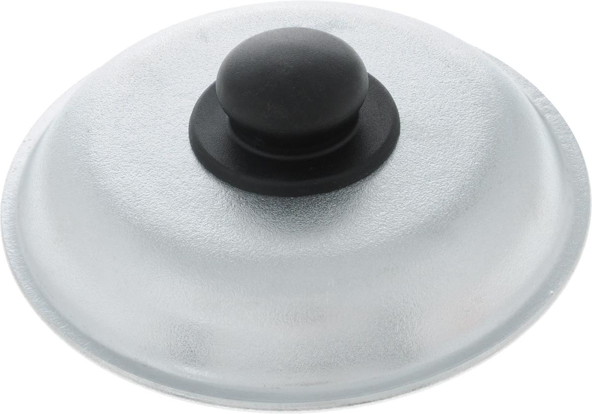 """Крышка """"Алита"""", изготовленная из литого алюминия и оснащена ручкой из термостойкого пластика. Изделие удобно в использовании при приготовлении пищи.Диаметр крышки: 20 см.Высота крышки (с учетом ручки): 5,5 см."""
