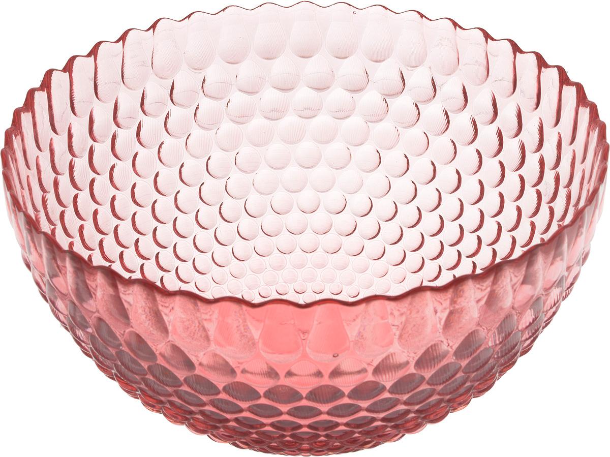 Салатник NiNaGlass Роса, цвет: розовый, диаметр 25 см83-061-Ф250 РОЗСалатник NiNaGlass Роса выполнен извысококачественного стекла и декорированрельефным узором. Он подойдет для сервировкистола как для повседневных, так и дляторжественных случаев.Такой салатник прекрасно впишется в интерьервашей кухни и станет достойным дополнением ккухонному инвентарю. Подчеркнет прекрасныйвкус хозяйки и станет отличным подарком.Диаметр салатника (по верхнему краю): 25 см. Высота стенки салатника: 13 см.