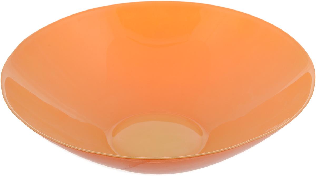 Салатник NiNaGlass Голландия, цвет: желто-оранжевый, диаметр 25 см83-012-ф25 Ж-ОРЖСалатник NiNaGlass Голландия выполнен из высококачественного матовогостекла. Салатник идеален для сервировки салатов, овощей, ягод, фруктов,гарниров и многого другого. Он отлично подойдет как для повседневных, так идля торжественных случаев.Такой салатник прекрасно впишется в интерьер вашей кухни и станет достойнымдополнением к кухонному инвентарю. Диаметр салатника (по верхнему краю): 25 см. Высота стенки: 7,5 см.