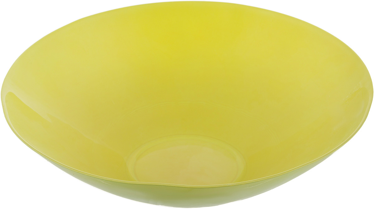 Салатник NiNaGlass Голландия, цвет: желто-зеленый, диаметр 25 см ваза ninaglass дана цвет шоколад высота 16 см