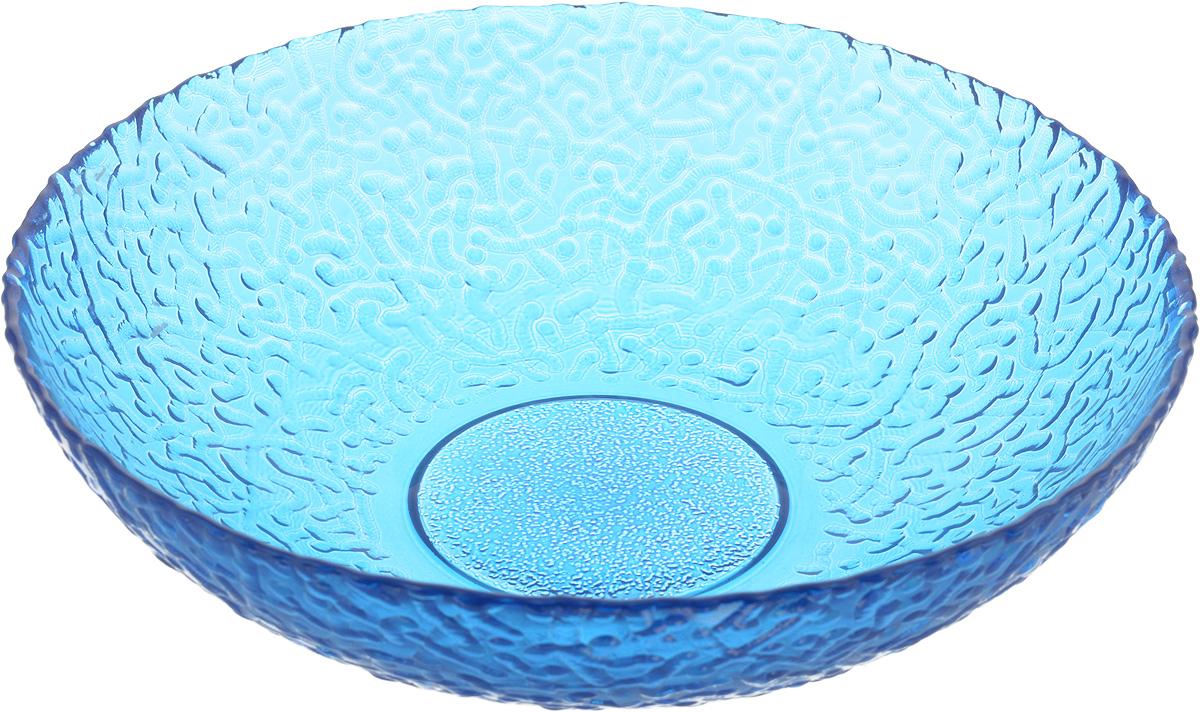 Тарелка NiNaGlass Ажур, цвет: синий, диаметр 20 см83-072-ф200/H50 СИНТарелка NiNaGlass Ажур выполнена из высококачественного стекла и имеет рельефную внешнюю поверхность. Она прекрасно впишется в интерьер вашей кухни и станет достойным дополнением к кухонному инвентарю. Тарелка NiNaGlass Ажур подчеркнет прекрасный вкус хозяйки и станет отличным подарком.Диаметр тарелки: 20 см.Высота: 5 см.