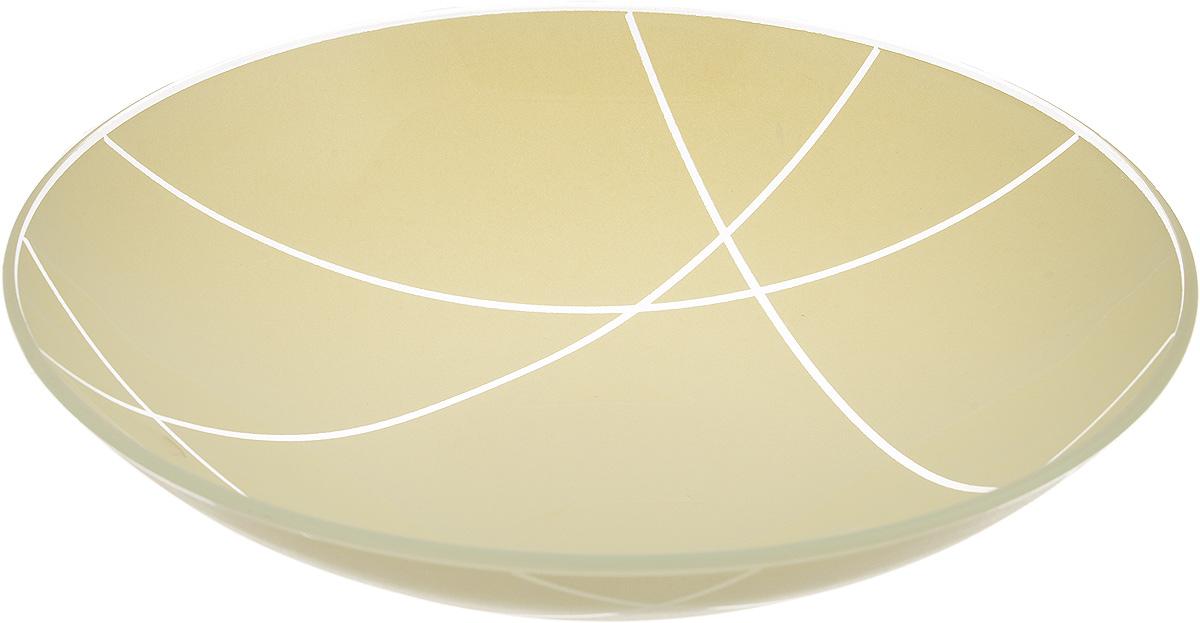 Тарелка глубокая NiNaGlass Контур, цвет: светло-бежевый, диаметр 22 см85-225-002/белТарелка NiNaGlass Контур выполнена из высококачественного стекла. Она прекрасно впишется в интерьер вашей кухни истанет достойным дополнением к кухонному инвентарю.Тарелка NiNaGlass Контур подчеркнет прекрасный вкус хозяйки и станетотличным подарком.Диаметр тарелки: 22 см. Высота: 5 см.