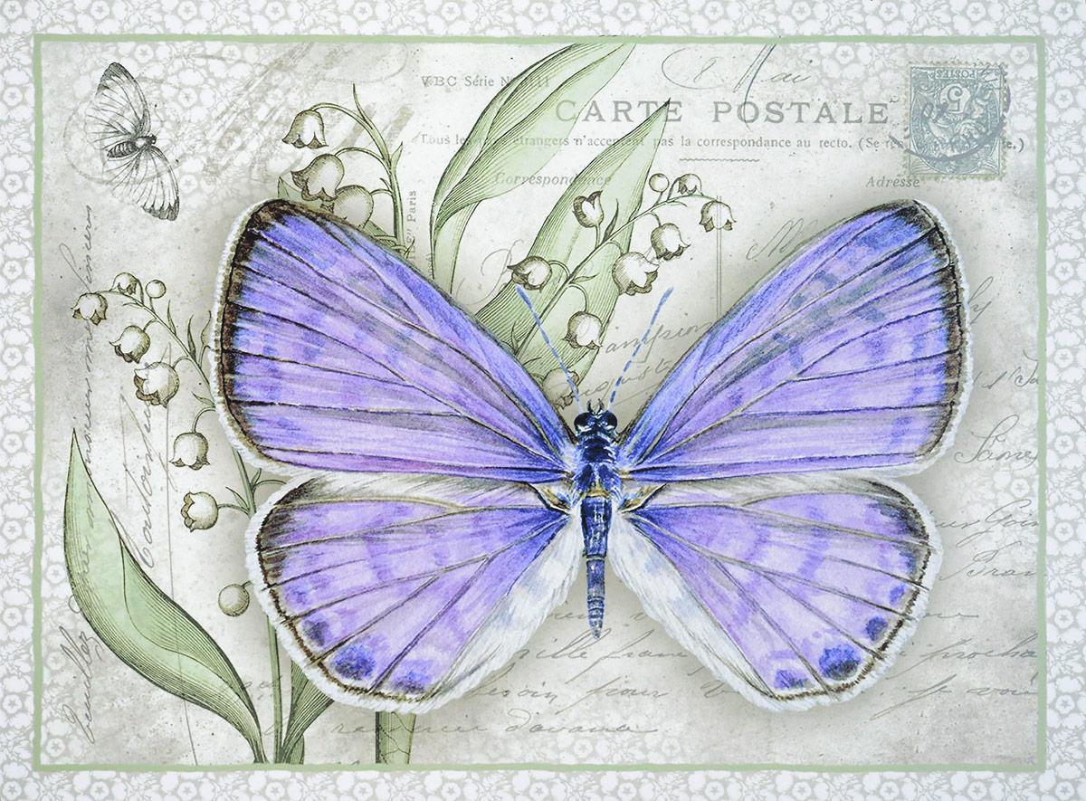 Картина-репродукция без рамки Magic Home Сиреневая бабочка, 30 х 40 см картина репродукция без рамки magic home любимый сад 30 х 40 см