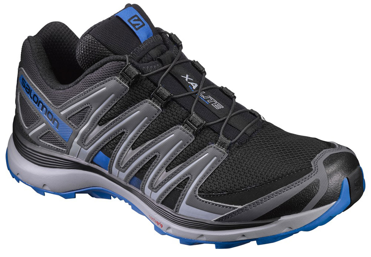 Кроссовки для бега мужские Salomon Xa Lite, цвет: черный, серый. L39330700. Размер 11 (44,5)L39330700Кроссовки Salomon Xa Lite выполнены из искусственной кожи и текстиля. У модели крепкая шнуровка для затягивания в одно движение. Конструкция Sensifit обрамляет стопу, обеспечивая точный обхват ноги. У изделия промежуточная подошва из EVA, формованная стелька.