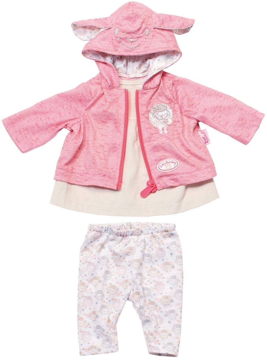 Baby Annabell Одежда для кукол цвет молочный розовый baby annabell одежда для кукол носки 2 пары цвет мятный белый