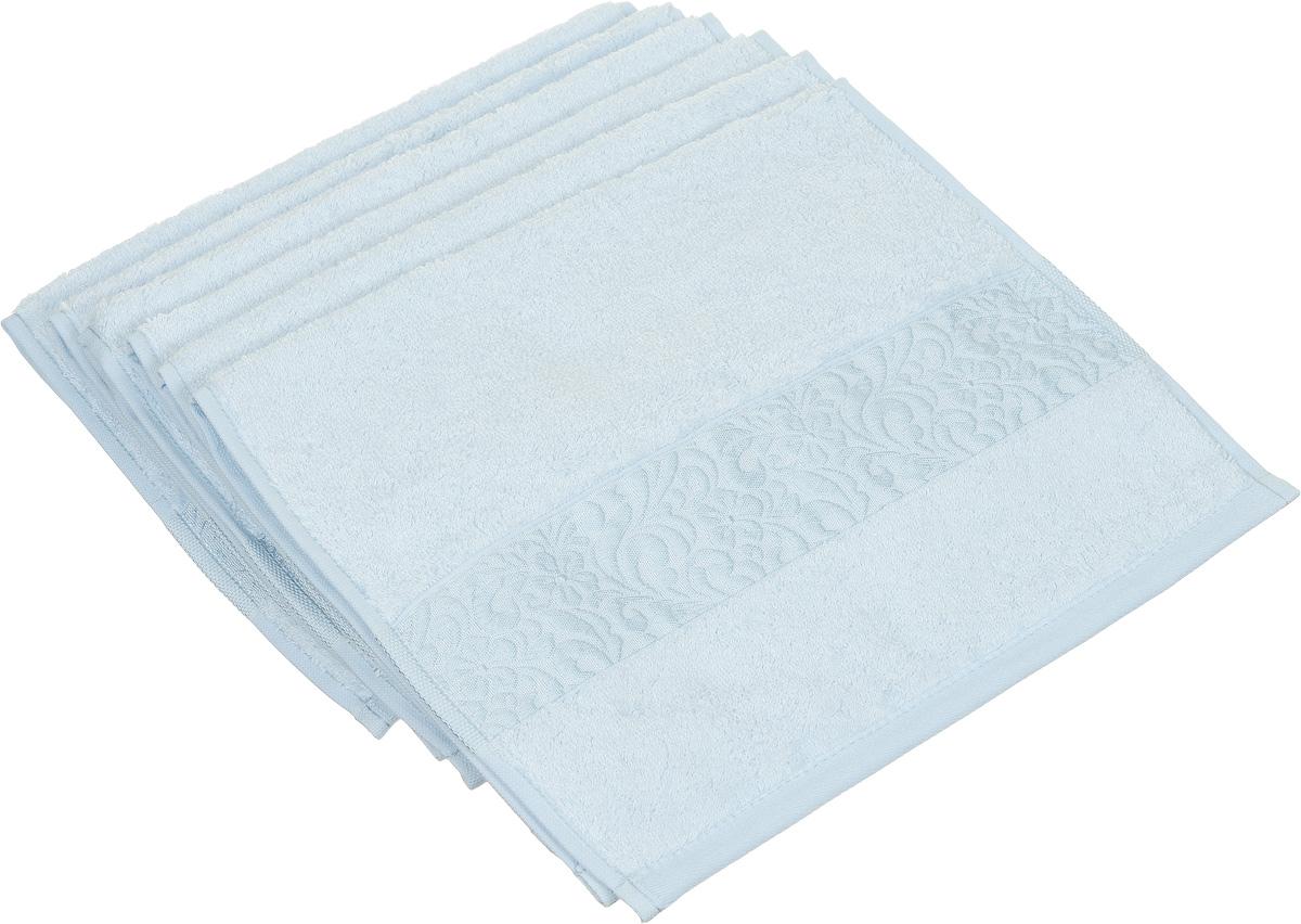 Набор полотенец Issimo Home Valencia, цвет: ментоловый, 30 х 50 см, 6 шт00000004888Набор Issimo Home Valencia состоит из 6 полотенец, выполненных из 60% бамбукового волокна и 40% хлопка. Такими полотенцами не нужно вытираться - только коснитесь кожи - и ткань сама все впитает. Такая ткань впитывает в 3 раза лучше, чем хлопок.Набор из маленьких полотенец-салфеток очень практичен - он станет незаменимым в дороге и в путешествиях. Кроме того, это хороший, красивый и изысканный подарок. Несмотря на богатую плотность и высокую петлю полотенец, онибыстро сохнут, остаются легкими даже при намокании.
