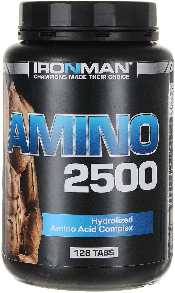 Комплекс аминокислот IRONMAN Amino 2500, 128 таблеток анаприлин таблетки 40 мг 28шт