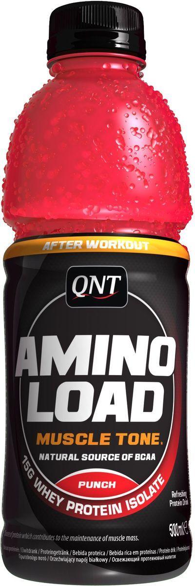 Энергетический напиток QNT Амино Лоад, 500 млQNT0890Напиток Amino Load компания QNT изготовлен из изолята сывороточного протеина высокой степени очистки и смеси простых и сложных углеводов. Каждая бутылочка Amino Load от QNT содержит 15 граммов белка высочайшей биологической ценности. Amino Load от QNT отличается от обычных протеиновых коктейлей, обладает прекрасным освежающим вкусом и не содержит лактозу.Состав: вода, белки (коллагеновый белок и белок молочной сыворотки), глицерин, фруктоза, ароматизатор, подкислитель: моногидрат лимонной кислоты, моногидрат креатина, консерванты: Е202 и Е211, краситель: Е124, витамин В6.Как повысить эффективность тренировок с помощью спортивного питания? Статья OZON Гид