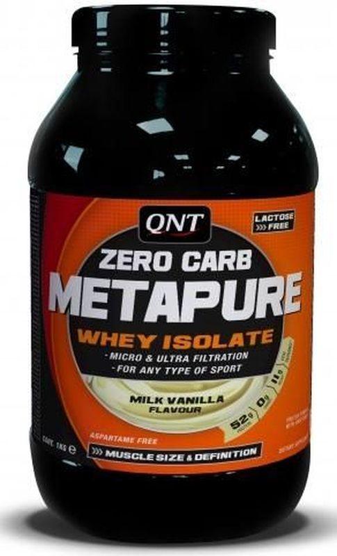 Изолят QNT Metapure, шоколад, 1 кгQNT1111Metapure Zero Carb изготовлен из изолята сывороточного протеина, самой чистой формы протеина существующей на рынке. Изолят состоит из простых аминокислот и из большого количества аминокислот с разветвленными боковыми цепями (ВСАА). Они являются наиболее важными для восстановления и роста мышц.Состав: L-лейцин, L-валин, L-изолейцин, L-глютаминовая кислота, L-пролин, L-лизин, L-аспарагиновая кислота, L-тирозин, L-серин, L-фенилаланин, L-треонин, L-аргинин, L-метионин, L-гистидин, L-аланин, глицин, L-триптофан, L-цистеин.