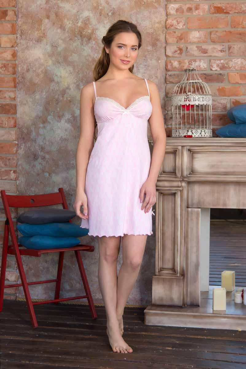 Сорочка женская Mia Cara Portugal, цвет: светло-розовый. AW16-MC-812. Размер 50/52 пижама женская футболка шорты mia cara portugal цвет розовый голубой aw16 mc 813 размер 50 52