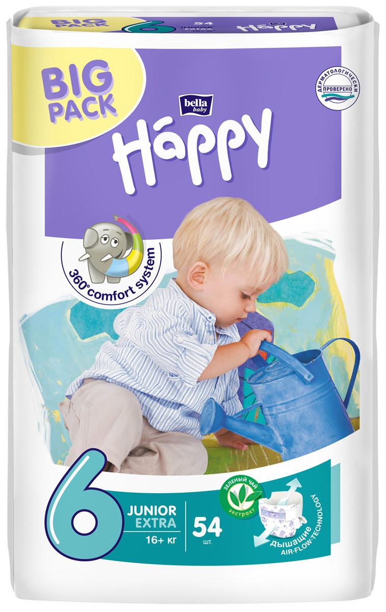 Bella Подгузники для детей Baby Happy размер Junior Extra 6 16+ кг 54 шт - Подгузники и пеленки