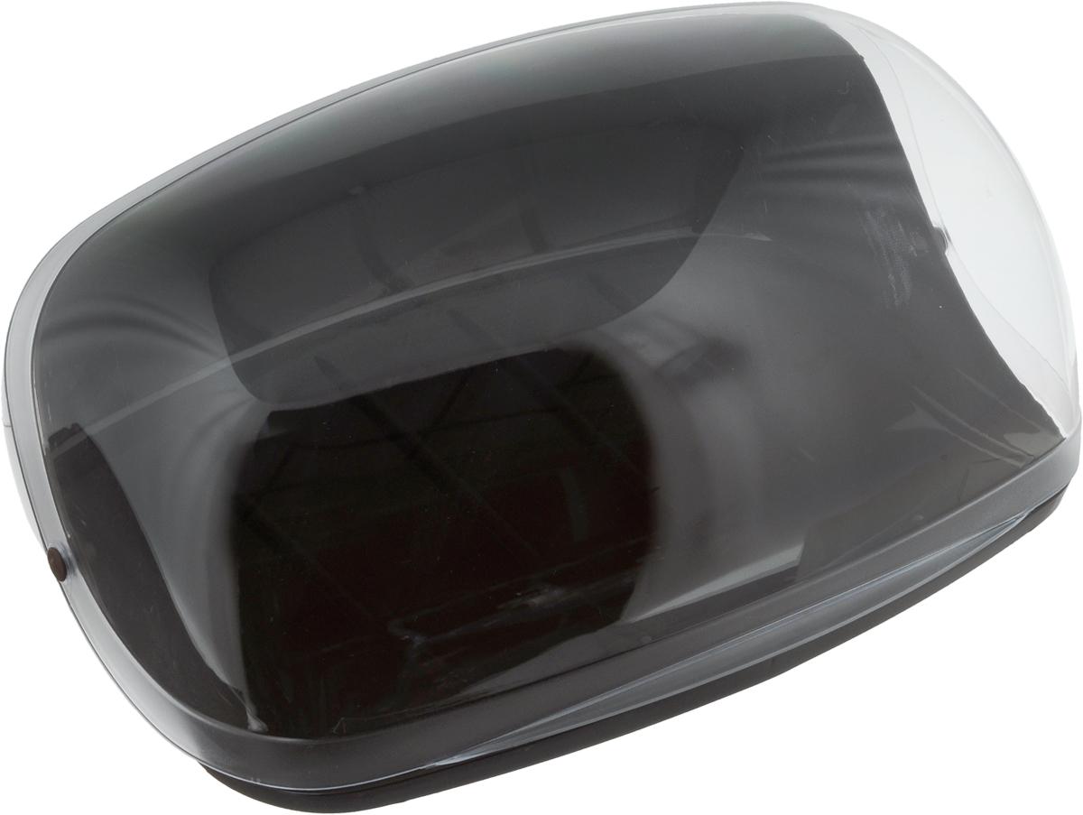 """Хлебница """"Idea"""", цвет: коричневый, прозрачный, 36 х 27,5 х 16"""