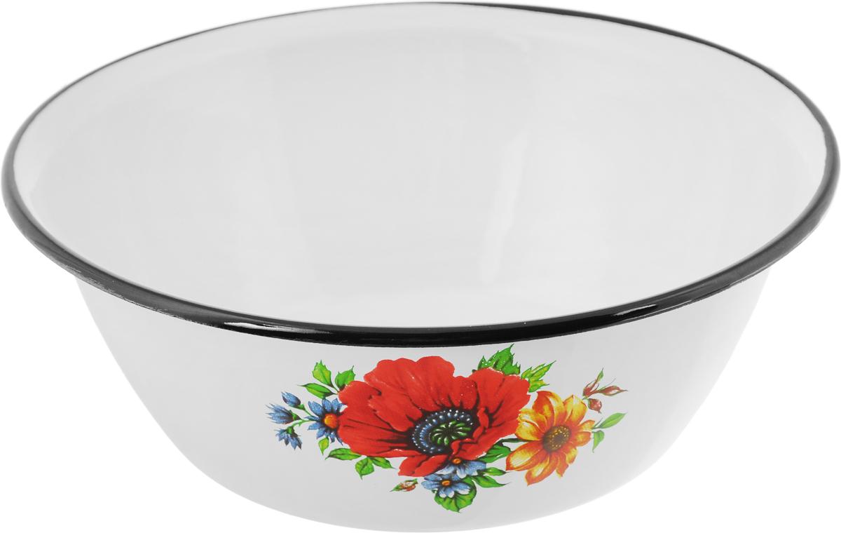 """Миска """"КМК"""" изготовлена из высококачественной стали с эмалевым покрытием и оформлена оригинальным рисунком.  Можно мыть в  посудомоечной машине.  Диаметр миски (по верхнему краю): 22 см. Высота стенки: 9 см."""