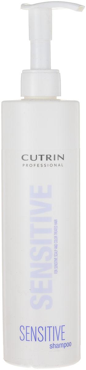 Cutrin Sensitive Shampoo Шампунь для окрашенных волос и чувствительной кожи головы, 500 мл super dry sensitive спрей антиперспирант для чувствительной кожи защита на 3 д натуротерапия