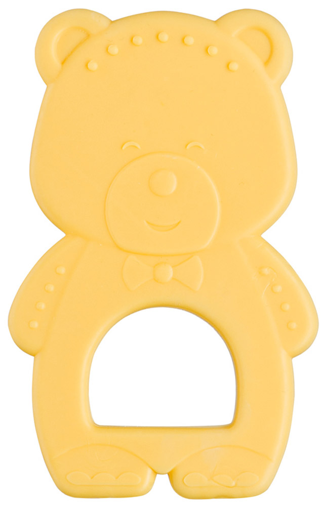 Happy Baby Прорезыватель Мишка от 6 месяцев цвет желтый