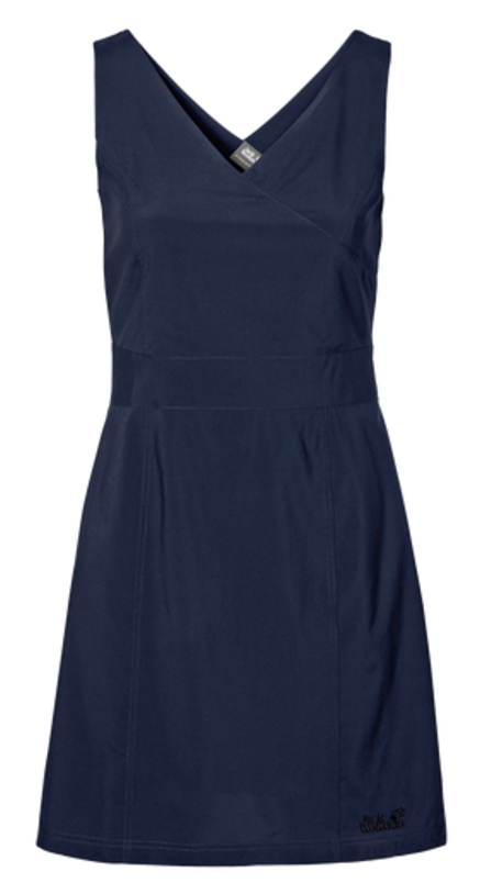 Платье Jack Wolfskin Wahia Dress, цвет: темно-синий. 1502892-1910. Размер L (48) платье jack wolfskin wahia dress цвет коралловый 1502892 2043 размер xl 50 52