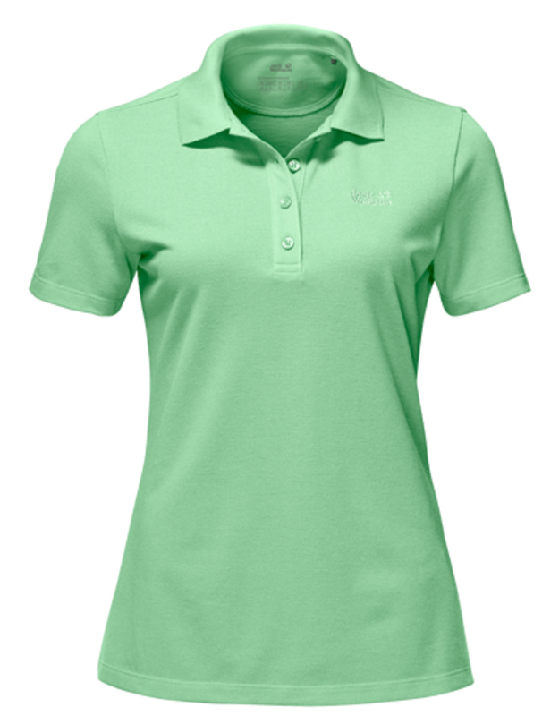 Поло женское Jack Wolfskin Pique Polo W, цвет: зеленый. 1805701-4154. Размер XL (50/52) платье jack wolfskin wahia dress цвет коралловый 1502892 2043 размер xl 50 52