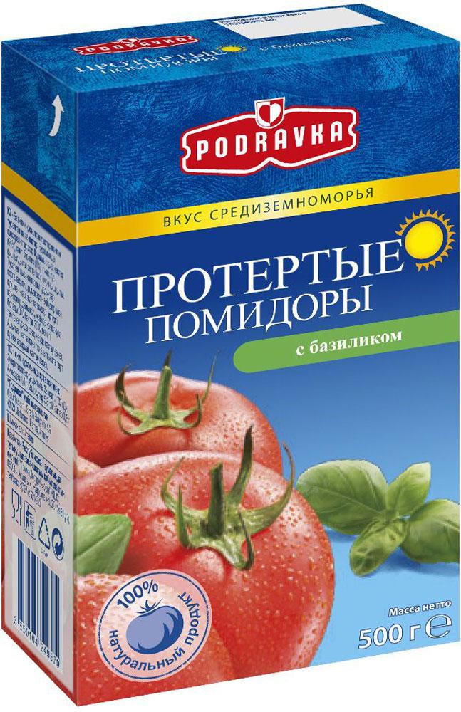 Podravka помидоры протертые с базиликом, 500 г