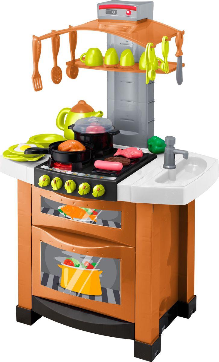 HTI Игрушечная электронная кухня Smart цвет оранжевый белый ролевые игры hti микроволновая печь smart