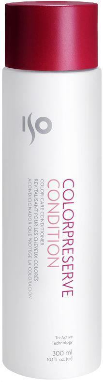 ISO Color Preserve Condition - Кондиционер для окрашенных волос, 300 мл974013Кремообразный, белого цвета, эластичный, с приятным запахом, легко наносится, обволакивая каждый волосок. За счет легкого веса отлично проникает под кутикулу, питая и увлажняя. Увлажняет, питает, придает блеск. Специальная технология Solar Seal 3 запечатывает цвет. Гуаровая смола – сглаживает кутикулу. Витамин С – защита от воздействия свободных радикалов. Содержит запатентованный компонент ISOамин, благодаря которому волосы становятся более эластичными, гладкими, легче поддаются укладке.Результат: Гладкие, блестящие, наполненные жизненной энергией волосы с оживленным цветом, подготовленные к процессу укладки.Секреты применения: Второй шаг для запечатывания цвета! Если держать на волосах 5 минут при воздействии тепла – эффект питающей маски. Можно использовать как крем для рук. А если запечатать руки в целлофан или одеть перчатки – как эффективную маску для кожи рук. При воздействии дополнительного тепла проникает глубже в структуру волоса.