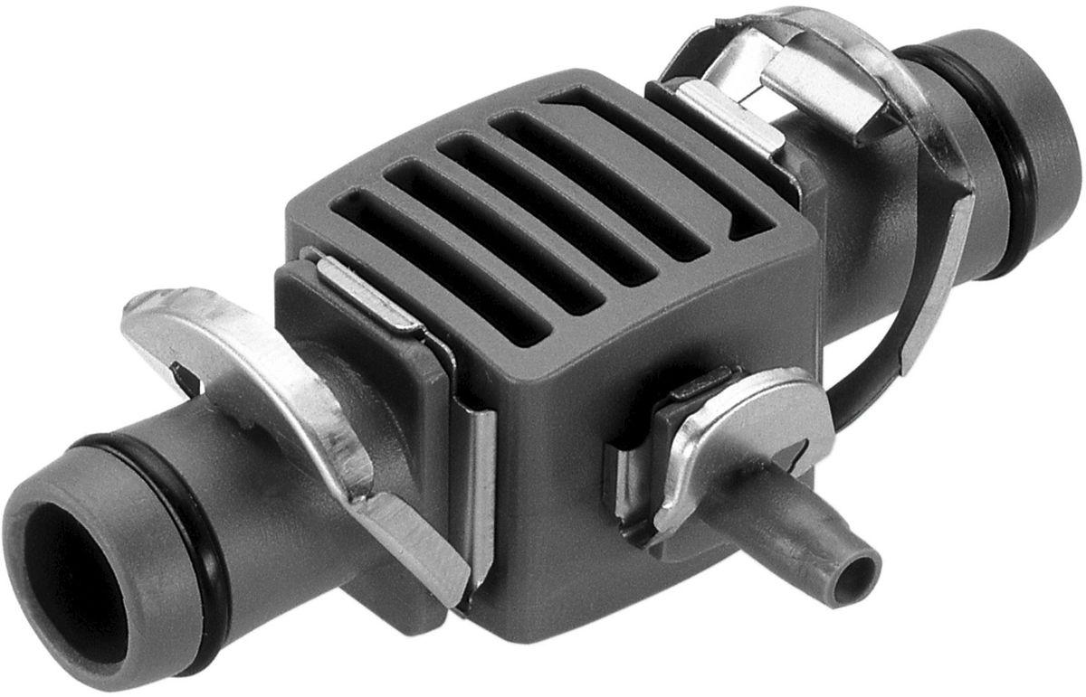 Соединитель-переходник Gardena, Т-образный, 5 шт08333-20.000.00Т-образный соединитель-переходник Gardena является элементом системы микрокапельного полива Gardena Micro-Drip-System и предназначен для перехода с магистрального на подающий шланг. Благодаря патентованной технологии быстрого подсоединения Quick & Easy, установка переходника чрезвычайно проста. В комплект поставки входят пять Т-образных переходников.