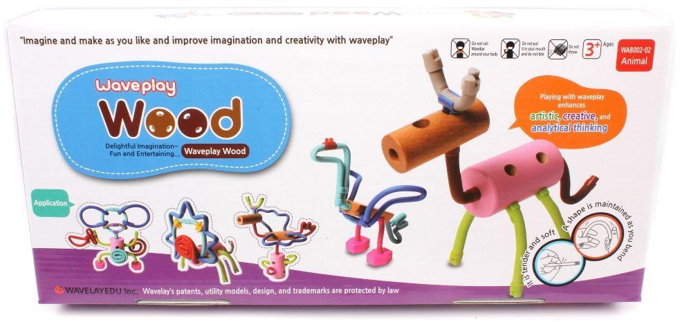 Waveplay Конструктор Wood Animal цена браслеты на колеса