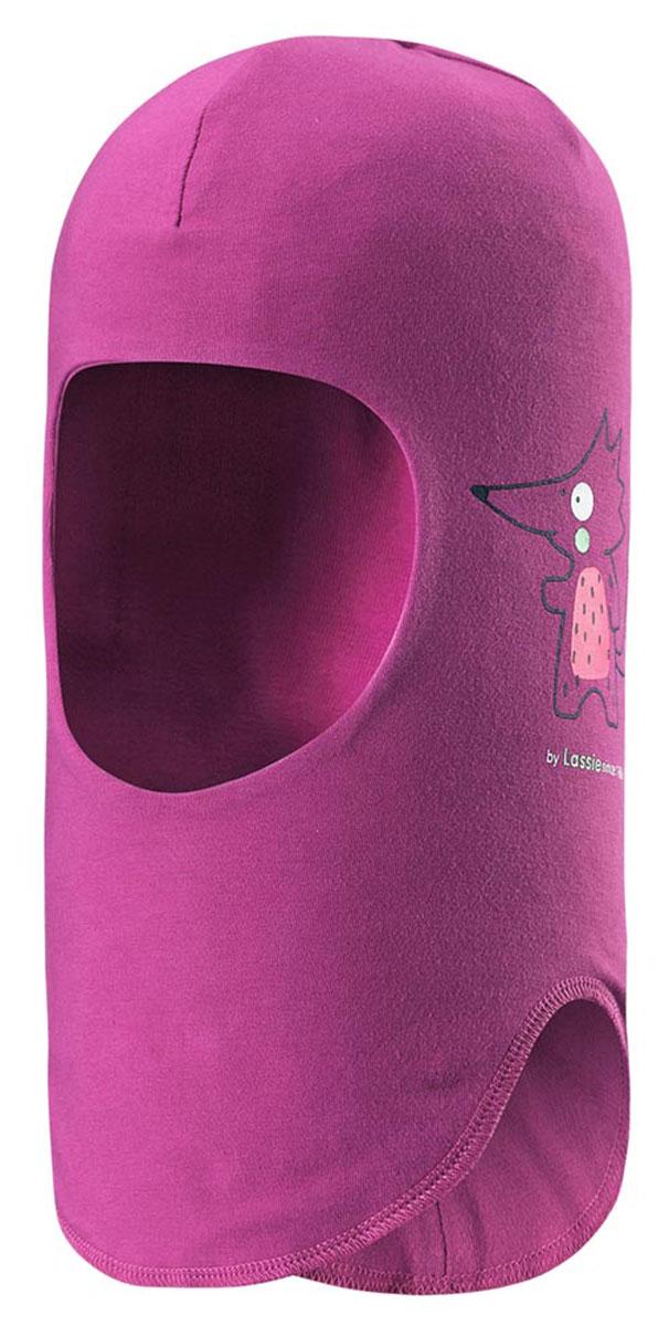 Балаклава детская Lassie, цвет: фуксия. 7187124860. Размер 46/487187124860Балаклава для малышей и детей постарше - эластичная и удобная. Полная подкладка из дышащего, мягкого на ощупь трикотажного материала. Эта шапка-шлем с ветронепроницаемыми вставками для ушей хорошо защищает лоб, уши и шею от холодного ветра. Имеется светоотражающая эмблема спереди.