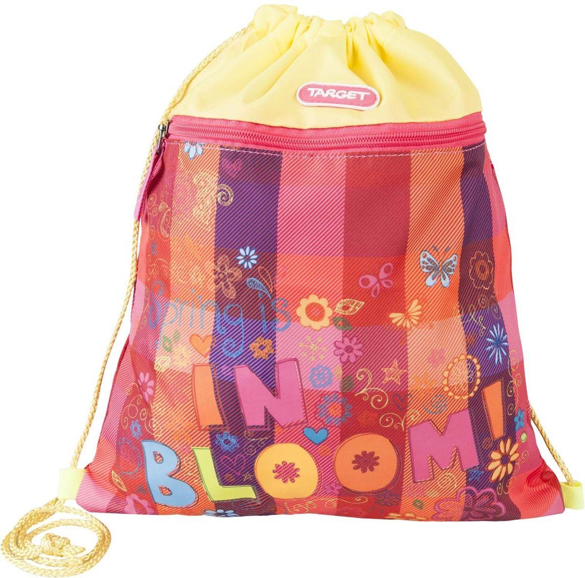 Target Collection Сумка для детской сменной обуви Цветение 1797617976Сумка для переноски детской обуви Target Collection Цветение, выполнена из плотного водостойкого материала, затягивается сверху шнурком и носится, как рюкзак.