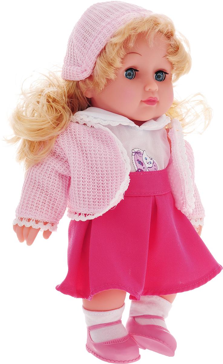 Карапуз Кукла озвученная цвет одежды розовый белый весна кукла озвученная оля цвет одежды белый розовый голубой