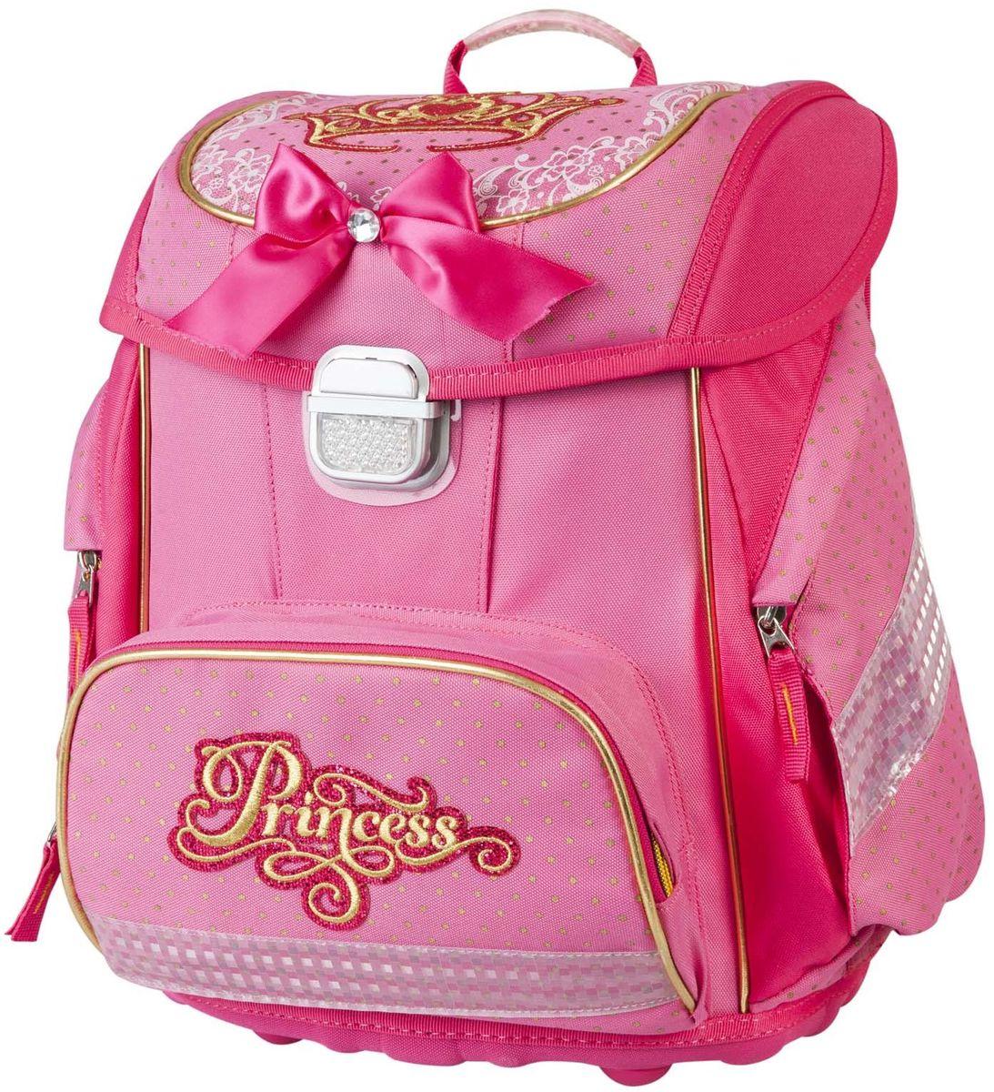 Target Collection Ранец школьный Принцесса 1790617906Детский рюкзак бренда «Target Collection» имеет яркий рисунок и изготовлен из современных, прочных материалов. Техническими особенностями рюкзака (портфелей) «Target Collection» является система «Flexiball» (поясничная поддержка), которая оптимально адаптирована для ребенка. Ведь самое главное, чтобы ребенок имел правильную осанку во время переноски портфеля. Система «Flexiball» является новшеством в промышленности, она правильно распределяет вес мешка, автоматически подстраивается под ребенка и поэтому обеспечивает идеальное положение для поясничной поддержки. Во время прогулки, система «Flexiball» движется вместе с ребенком, за счет гибкого материала уменьшает нагрузку при ходьбе. Портфель имеет форму куба, пригодную для учащихся начальных классов. Плечевые лямки можно отрегулировать для каждого ребенка индивидуально, поэтому получается что он «растет» вместе с ребенком. Лямки содержат вентиляционные отверстия и тем самым имеют возможность дышать. Они дополнительно оснащены ЭКО-пеной, которая делает ношение портфеля более комфортным для ребёнка.