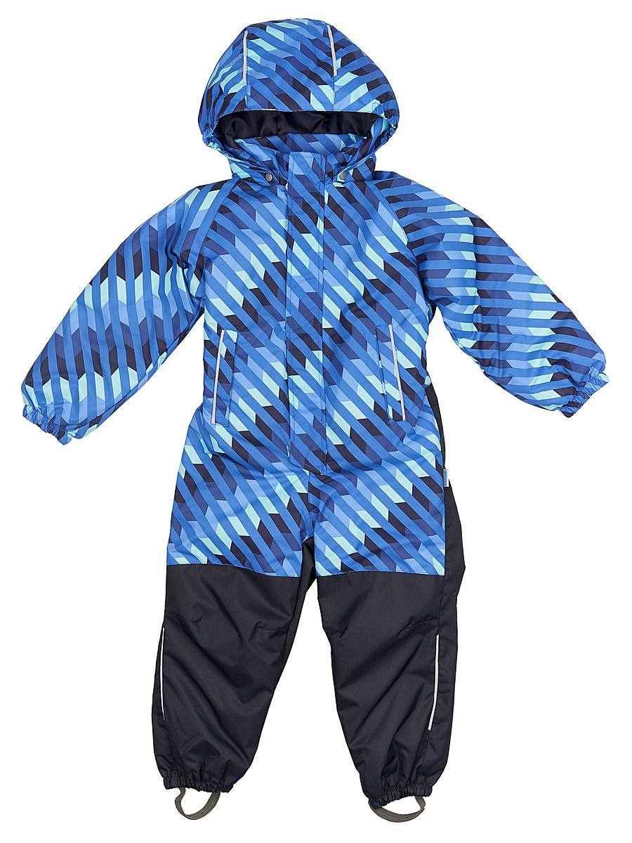Комбинезон детский Lassie, цвет: голубой, темно-синий. 720703R6691. Размер 128720703R6691Практичный детский демисезонный комбинезон. Материал, из которого он сшит, водоотталкивающий и ветронепроницаемый, и в то же время комфортный и дышащий. Нижняя часть комбинезона от седалища до самой талии усилена теплым материалом, который гарантирует еще большую износостойкость. Гладкая подкладка из полиэстера на утеплителе облегчает одевание. Съемный капюшон обеспечивает дополнительную безопасность во время прогулок, а эластичные концы брючин и съемные штрипки не пустят внутрь холод и влагу. В нем множество продуманных элементов, например нагрудный карман на молнии и светоотражатели. Веселый детский демисезонный комбинезон не только отлично смотрится, но еще и оснащен множеством практичных деталей!