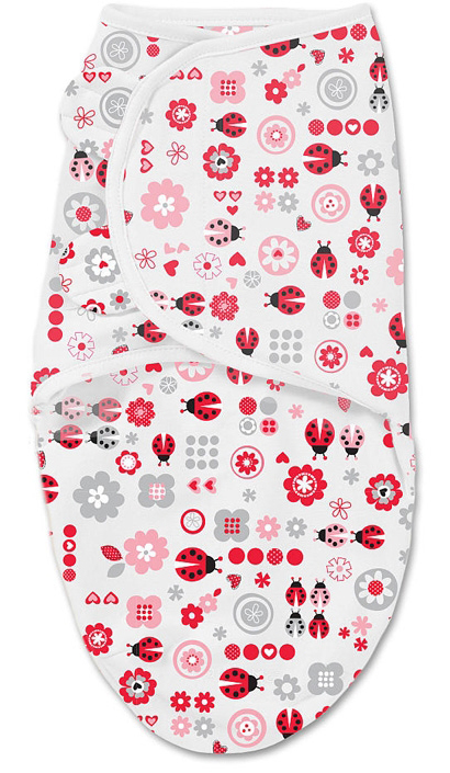 Конверт для новорожденного Summer Infant SwaddleMe на липучке, цвет: белый. 76950. Размер S/M, длина 55 см
