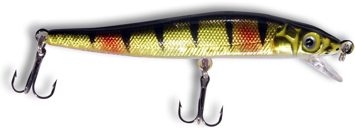 Воблер SWD Classic Minnow 80SS, цвет: золотистый, черный, красный, 6 г, 0,5-1 м воблер плавающий rapala scatter rap minnow scrm11 tr 1 8м 2 7м 11 см 6 г