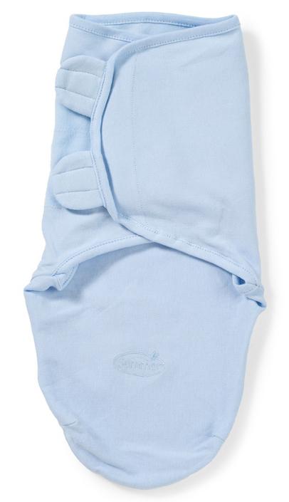Конверт для новорожденного Summer Infant SwaddleMe на липучке, цвет: голубой. 55816. Размер S/M, длина 55 см