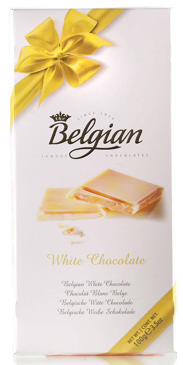The Belgian Шоколад белый, 100 г7.33.11В аромате преобладают ванильные и сливочные ноты. Лакомство пленяет насыщенным, удивительно нежным, богатым и шелковистым сливочно-карамельным вкусом. Шоколад станет прекрасным дополнением к кофе, капучино или чаю. Его можно предложить в качестве сопровождения к сладкому и полусладкому шампанскому, а также к белым винам из винограда Мускат, Гевюрцтраминер, Шардонне или Рислинг.