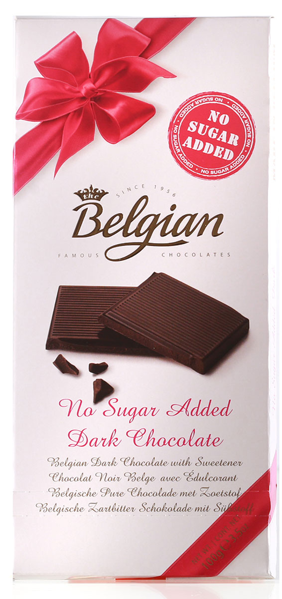The Belgian Шоколад горький без сахара, 100 г icam vanini шоколад классик без содержания сахара горький 56