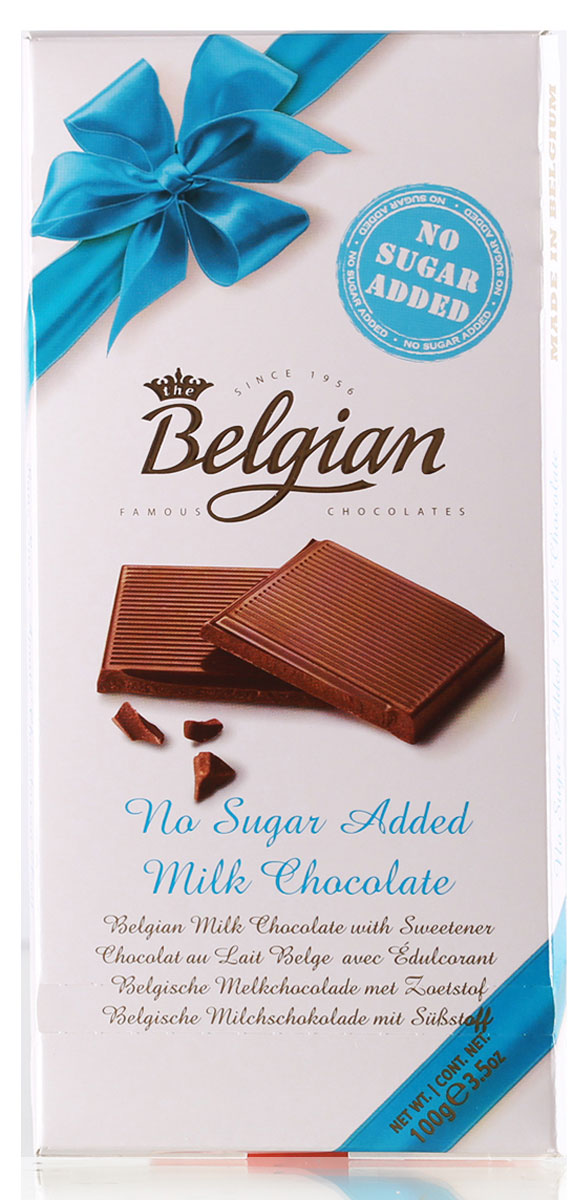 The Belgian Шоколад молочный без сахара, 100 г icam vanini шоколад классик без добавления сахара молочный 32