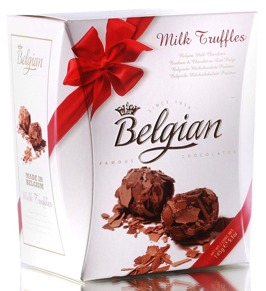 The Belgian Трюфели из молочного шоколада в хлопьях, 145 г7.37.04Трюфели очаровывают прекрасным сочетанием мягкой сливочной начинки с шелковистым вкусом хлопьев из молочного шоколада. Конфетами приятно наслаждаться в сопровождении чашечки чая, кофе или капучино. Они составят хорошую пару с какао или молоком. Трюфели можно предложить к бокалу красного или белого сухого вина, портвейну или к десертному вину.