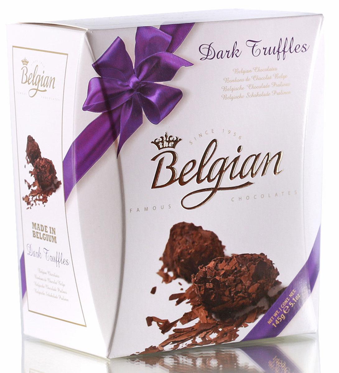 The Belgian Трюфели из горького шоколада в хлопьях, 145 г chocmod конфеты chocmod трюфели париж 500г