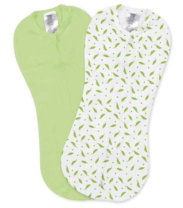 Конверт для новорожденного Summer Infant SwaddlePod на молнии, цвет:салатовый, белый, 2 шт. 54790. Размер S, длина 50 см54790Конверт идеально подходит для очень маленьких и даже для недоношенных детей. Дает малышу чувство уюта, как в утробе мамы. Мягко облегая, конверт не ограничивает движение ребенка, и в тоже время помогает снизить рефлекс внезапного вздрагивания, благодаря этому сон малыша более крепкий. Двойная молния позволяет сменить подгузник без полного развертывания малыша из конверта. Молния вшита по специальной технологии, не вредя ребенку при использовании конверта.