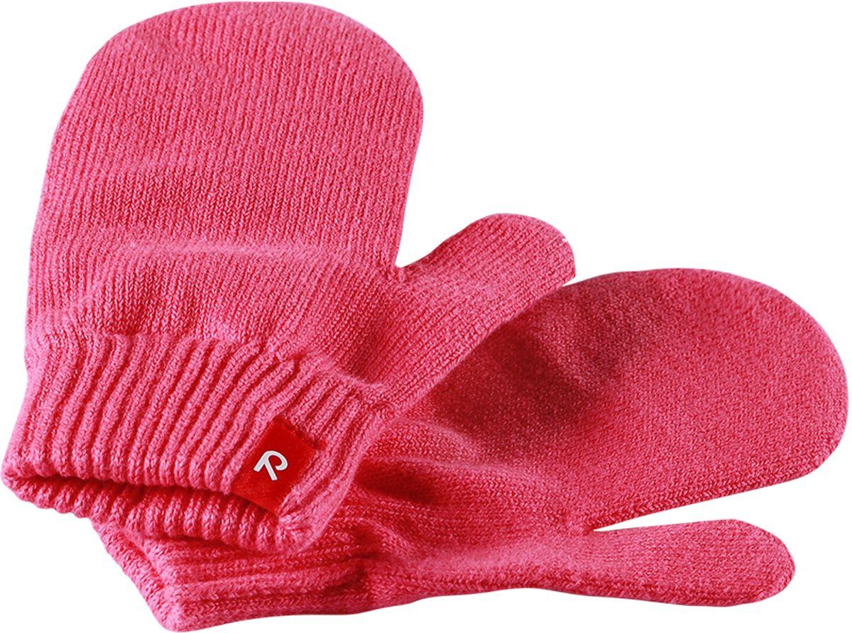 Варежки детские Reima Klistra, цвет: розовый. 527261-3360. Размер 7/8527261-3360Удобные варежки из мягкого хлопка можно носить под водонепроницаемые варежки, а в сухую погоду отдельно. Изготовлены из хлопчатобумажного трикотажа высокого качества и легко стираются в стиральной машине.