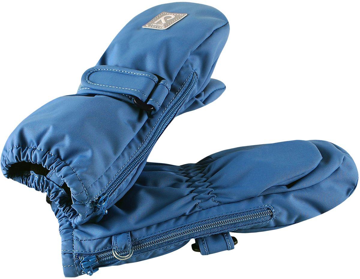 Варежки детские Reima, цвет: синий. 5171450. Размер 25171450Эластичные, теплые и удобные варежки для активных малышей. Они защитят от брызг и небольшого дождика, так как изготовлены из водонепроницаемого материала. Благодаря застежке на молнии их невероятно легко надевать! Легкое утепление согреет в прохладную весеннюю и осеннюю погоду.
