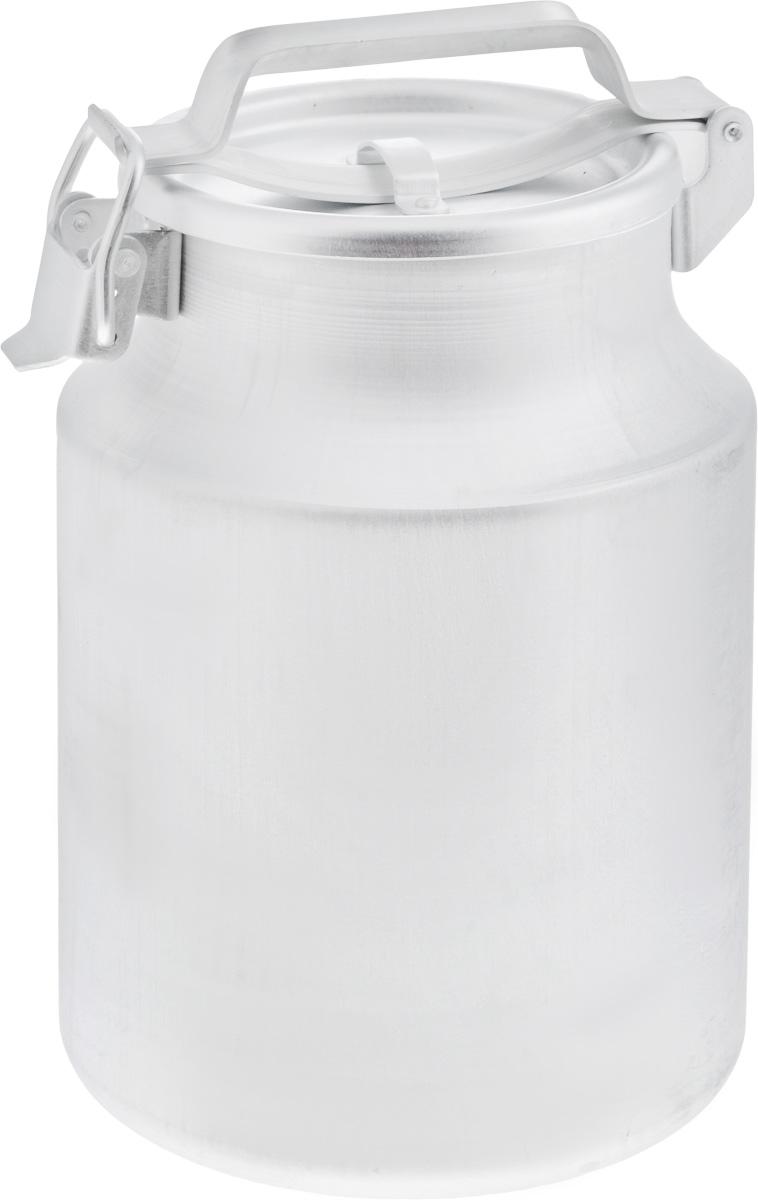 Бидон Scovo, 10 л. МТ-002/С-228МТ-002/С-228Бидон Scovo, выполненный из высококачественного алюминия, используют для хранения жидкостей, в основном молока, и сыпучих продуктов. Благодаря резиновой прокладке и прочному замку, крышка изделия герметично закрывается. Бидон оснащен ручкой для удобной переноски. Объем 10 литров. Диаметр бидона (по верхнему краю): 17 см.Высота бидона (без учета крышки): 32 см.Диаметр основания: 20 см.