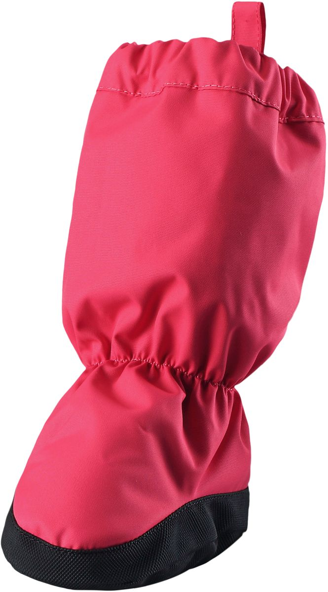 Пинетки Reima Hiipii, цвет: розовый. 5171563360. Размер 25171563360Эластичные, теплые и удобные пинетки для малышей просто идеальны для прогулок в коляске. Пинетки изготовлены из ветро- и водонепроницаемого, грязеотталкивающего материала, которому не страшны брызги и небольшой дождик. Их очень легко надевать благодаря эластичным резинкам на голени и щиколотке. Нескользящая подошва не даст малышу упасть на скользкой поверхности. Обратите внимание: пинетки могут промокать, так как они выполнены из водонепроницаемого материала не полностью.
