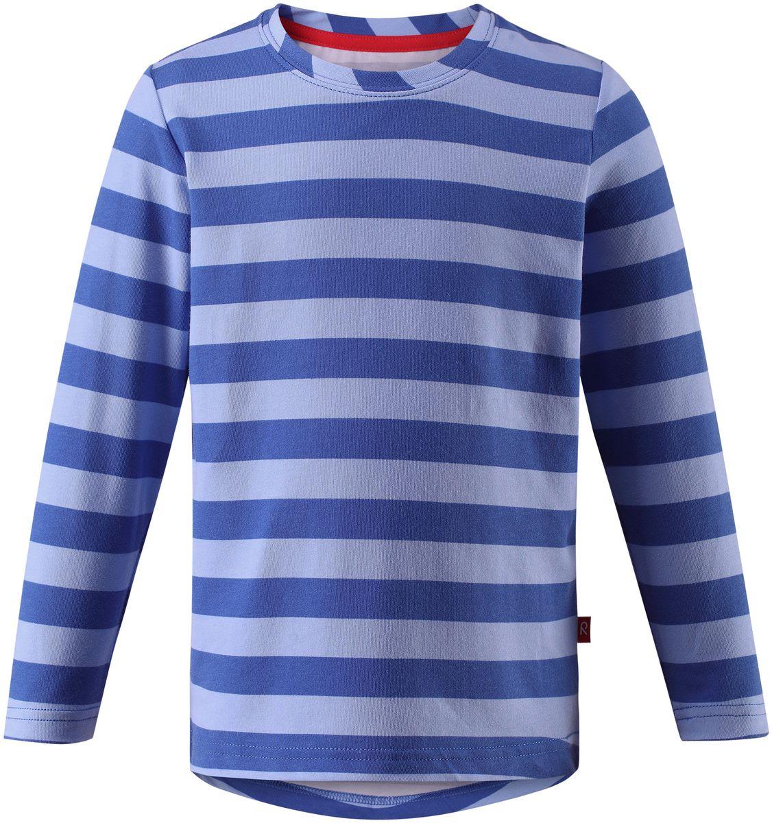 Футболка с длинным рукавом детская Reima Kuper, цвет: синий. 5262526537. Размер 92  peter kuper ruins