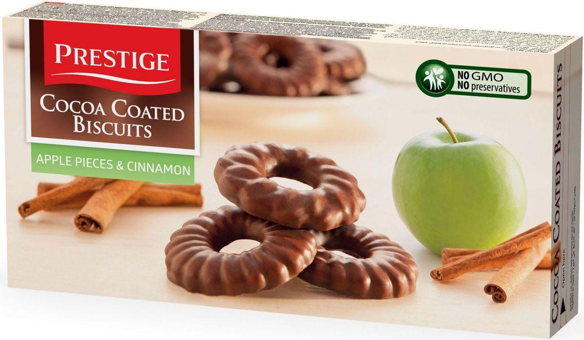 Prestige Печенье с яблоком и корицей в какао глазури, 175 г3.58.16Печенье Prestige с яблоком и корицей, покрытое какао глазурью, создано из простых и полезных ингредиентов. Насыщенный мягкий шоколадный вкус подарит массу удовольствия, сам шоколад в сочетании с печеньем зарядит энергией и бодростью с утра и на целый день.