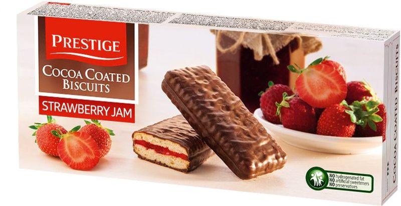 где купить  Prestige Печенье клубничное в какао глазури, 216 г  по лучшей цене