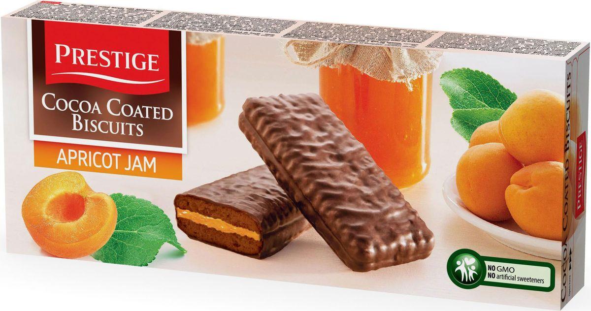 Prestige Печенье абрикосовое в какао глазури, 216 г био варенье абрикосовое auchan 350г